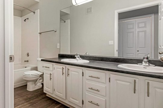 Cierra Crest Apartments - Spacious Bathroom with Double Vanity